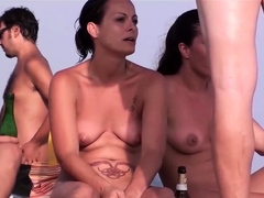 Close-Up Pussy Nude Beach Voyeur Hidden Cam Video