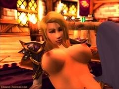 Horny hentai big boobs sucks and rides cock