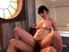 Big assed busty tit fuck and blowjob