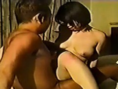 Hairy Japanese Pussy Getting Banged