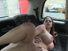 Busty British beauty pov banged in fake taxi
