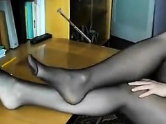 Sexy Feet And Legs Covered In Stockings